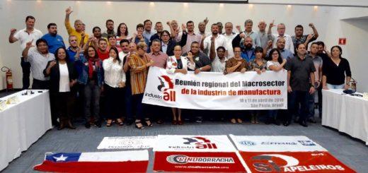 Reunión de Industriall Global Union realizada en abril en Brasil.